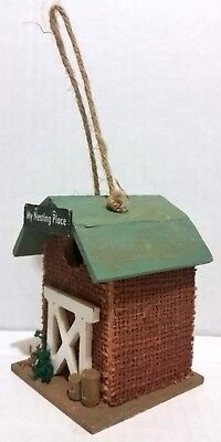 Rustic Country Marquee Wood Decorative Birdhouses, My Nesting Place