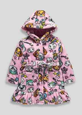 Girls Soft Paw Patrol Dressing Gown Nightwear Bnwt All Ages Skye
