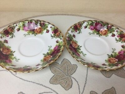 Royal Albert Old Country Roses 2 x Replacement Saucers Only 1st Quality