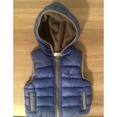 Old Navy Baby Fleece Lined Hooded Zip up vest. Thick and warm for winter!