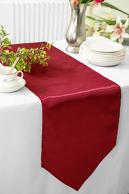 "Wedding Linens Inc. 13.5"" x 108"" Satin Table Runner - 56 Colors Available"