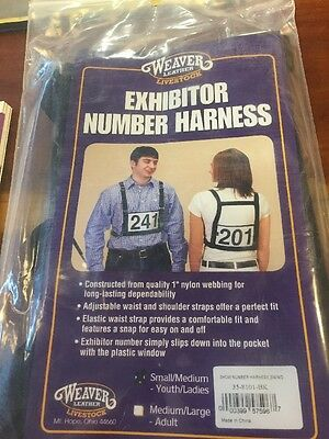 Weaver Leather Livestock Show Supply Exhibitor Number Harness, 35-8101-BK