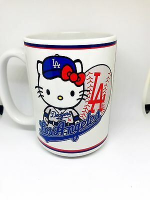 Custom Made Hello Kitty Los Angeles Dodgers Coffee Mug with your name 15oz