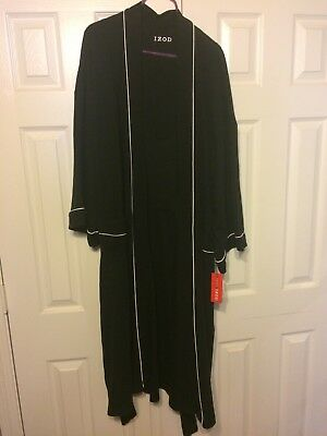 IZOD Waffled LONG SLEEVE BATH ROBE SLEEPWEAR ONE SIZE FITS MOST XL