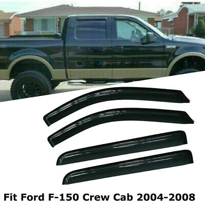 Out-Channel Vent Shade Window Visors Ford F150 F-150 Super Crew Cab 15-16 4pcs