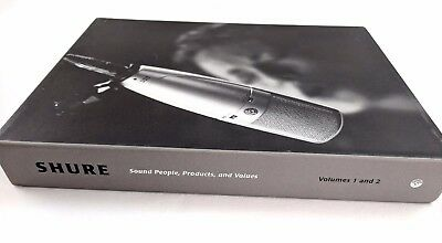 """""""Shure Sound People, Products, and Values"""" Vol.1 & 2 paperback books in slipcase"""