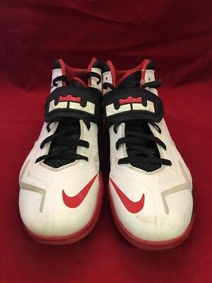 buy popular cd3ed bc61f Nike Zoom Lebron Soldier VII 7 599264-100 Red White Basketball Shoes 12.5 U3