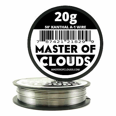 50 ft - 20 Gauge AWG A1 Kanthal Round Wire 0.81mm Resistance A-1 20g GA 50'