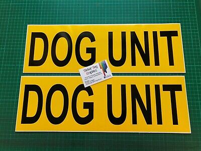 DOG UNIT Magnet K9 Handler Car Door Magnets  Police Search & Rescue 460mm x 2