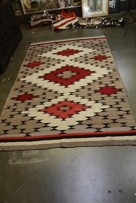"Fine Antique Navajo Indian Ganado Rug c. 1920  100"" x 64"""