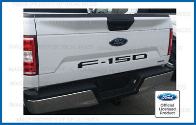 2018 Ford F150 Tailgate Inserts Decals Letters Indent Stickers MATTE FLAT BLACK