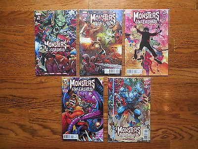 MONSTERS UNLEASHED 1+2+3+4+5 Complete Series Avengers Marvel Lot of 5 books NM