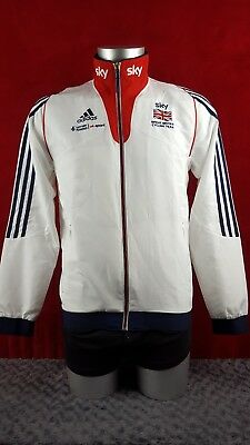[ref:3036] Adidas Sky Great Britain cycling jacket, red white and blue, small
