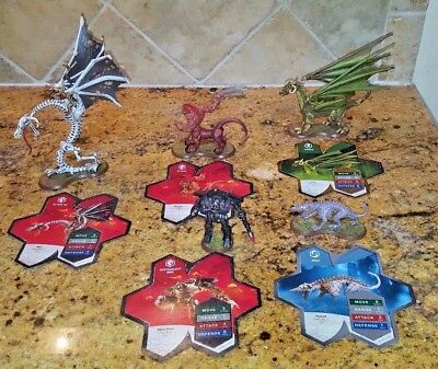 Heroscape Orm's Return Expansion Set 5 Large Detailed Figures with Cards