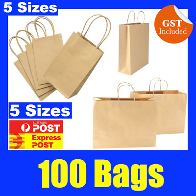 New Craft Paper Gift Carry Bags Small Medium Large With Paper Twisted Handles