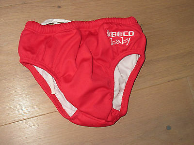 Beco Baby Badehose Rot Gr. L (12-18 Monate)