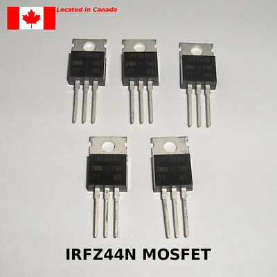 IRFZ44N MOSFET HEXFET N-Channel 55V 49A 17.5mOhm TO-220 5pcs