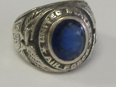 Post Ww2 Men's Sterling Silver Us Air Force Ring  7.3/4 Size