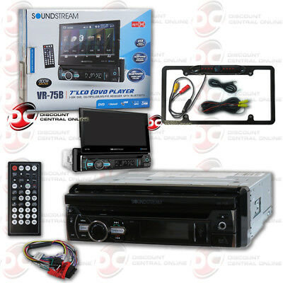 "Soundstream Motorized 7"" Lcd Dvd Bluetooth Stereo Free Black Full License Camera"