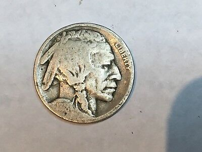 1918-D Buffalo Nickel in Very  Good  condition scarce and nice original coin
