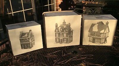 Dept 56 3 Piece Lot No. 2~Dickens Village Heritage Collection In original boxes