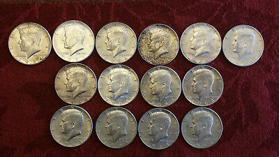 Lot Of (14) Kennedy Silver Half Dollars (10)1964-P & (4)1964-D  #a-347