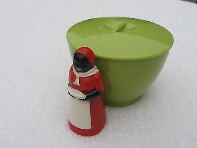 Vintage F&F Mold & Die Works Rare Prototype Light Green Aunt Jemima Sugar Bowl