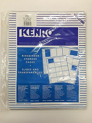 Storage pages for negatives or slider 6x6 by Kenro. 10 Items per box. New