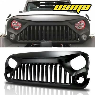 Black Front Gladiator Grill Grille For 07-18 Jeep Wrangler JK Unlimited Rubicon
