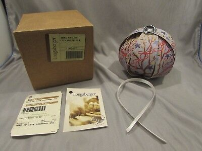 New Longaberger Tree Of Life Ornament 2013 4th of July    A-1
