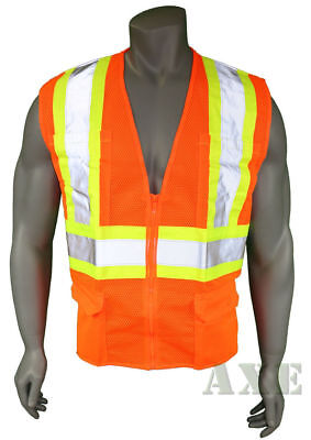 High Visibility Vest, Mesh, Class 2 Safety Vest with 6 Pockets, Ironwear