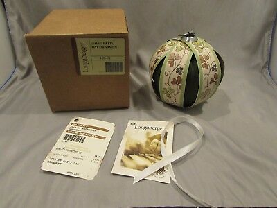 New Longaberger Tree Of Life Ornament 2013 St. Patty Day    A-1