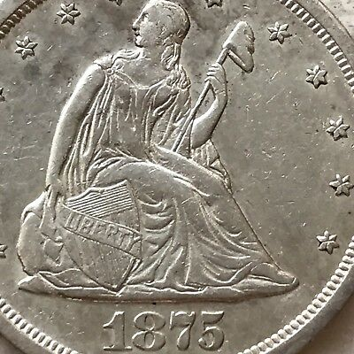 1875-S Seated Liberty Twenty 20 Cent Piece Coin GREAT DETAILS