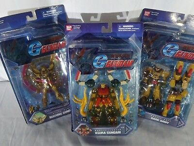 Lot Of 3 Gundam Mobile Fighters Action Figures