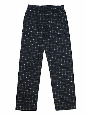 Lacoste Men's Black 100% Cotton Croc-Print Logo Lounge Sleep Pajama Pants