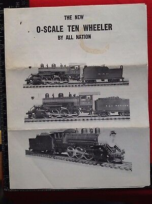 1965 All Nation O-SCALE TEN WHEELER Motors FLYER Des Plaines ILL