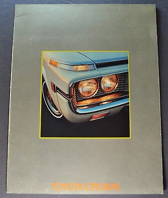 1971 Toyota Crown Catalog Sales Brochure Excellent Original 71
