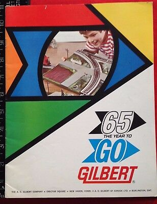 1965 GILBERT 65 THE YEAR TO GO GILBERT Catalog New Haven Conn CT ALL-ABROAD
