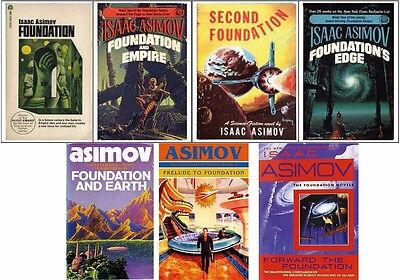 The Foundation Series By Isaac Asimov - 7 Audiobook Set - UNABRIDGED MP3 DVD