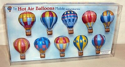 NEW! Schylling Tin Hot Air Balloon Mobile Toy Nursery Mobiles Baby Infant Crib