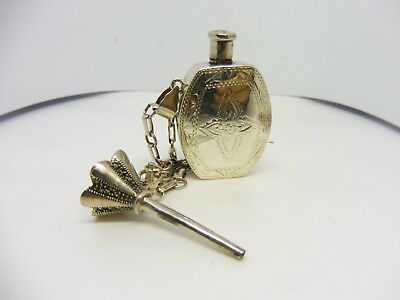 Sterling Silver Perfume Flask With Funnel
