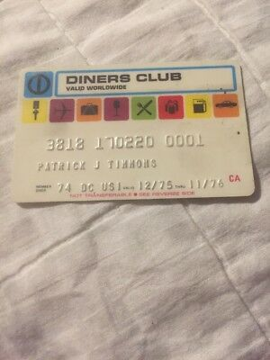 Vintage Rare Diners Club Credit Card Charge Card 1975