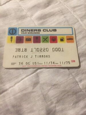 Vintage Rare Diners Club Credit Card Charge Card 1974