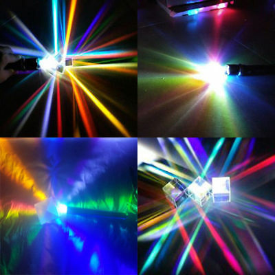 Laser Beam Combine Cube Prism Mirror for 405nm~ 450nm Blue Laser Diode RGB New