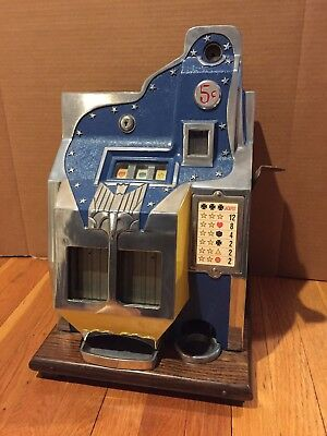 1930's MILLS 5c QT FIREBIRD SLOT MACHINE