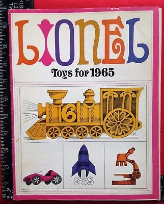 1965 LIONEL Trains RACEWAYS Phonographs SCIENCE SETS Catalog GLOSSY 40 Pages