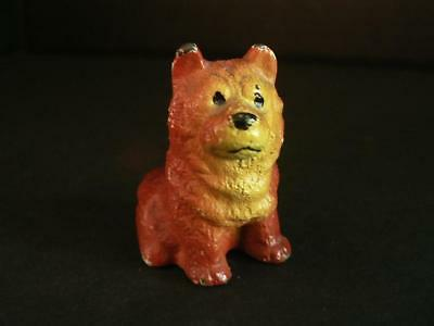 "Vintage Hubley Mini 1.75"" Chow Chow  Husky  Cast  Iron Dog Toy Paperweight"