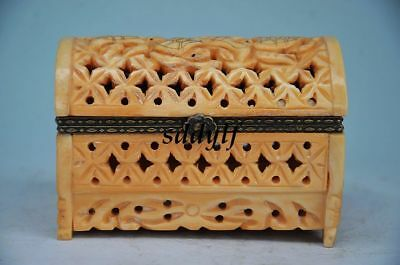 Small Box Wooden Vintage Storage Hollow Out Handmade Art Zrf