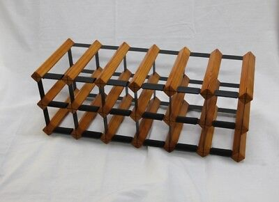 14 OR 18 Bottle MOHOGANY Timber Wine Rack -Genuine BORDERS Product