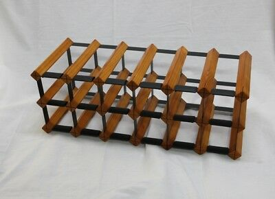 14 OR 18 Bottle Timber Wine Rack- MAHOGANY - Genuine BORDERS - Free Delivery